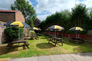 Pub Garden at The Cheshire Cheese in Wheelock