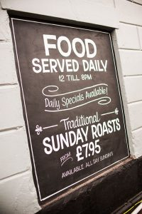 Traditional Sunday Roasts at The Cheshire Cheese in Wheelock